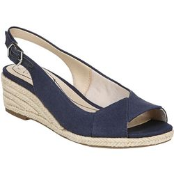 LifeStride Womens Socialite Espadrille Wedge Sandals