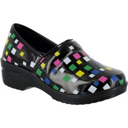 Easy Street Works Womens Lyndee Multi Square Work Clogs