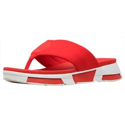 Fit Flop Womens Sporty Logo Flip Flops