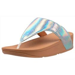 Womens Lottie Iridescent Flip Flops