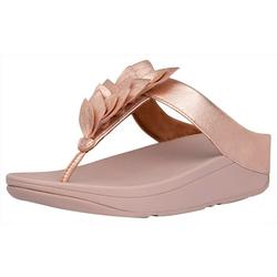 Womens Fino Leaf Flip Flops