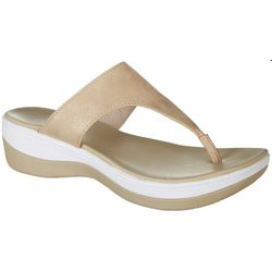 Coral Bay Collection Womens Britni Thong Sandals