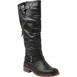 XOXO Womens Markee Tall Solid Scrunch Boots