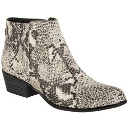 Unionbay Womens Tipper Snake Ankle Boots