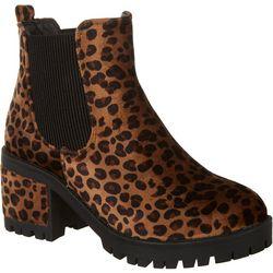 Womens Animal Print Berlin Boots