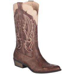 Coconuts Womens Brown Cimmaron Cowboy Boots