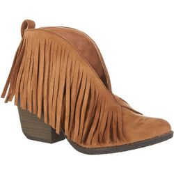 Coconuts Womens Lombard Fringe Boots
