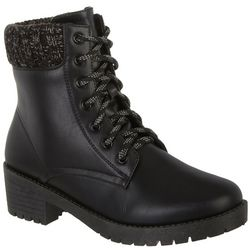 Womens Faux Leather Ankle Boot