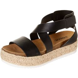 Soda Womens Sunny Platform Sandals