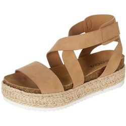 Soda Womens Sunny Platform Sandals
