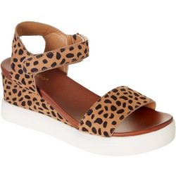 Bamboo Womens Winning-01 Leopard Sandals