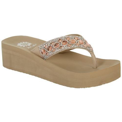 cca0e29ec Yellow Box Womens Rise Wedge Flip Flops | Bealls Florida