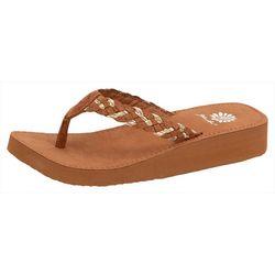 Womens Quincy Braided Flip Flops