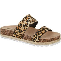 Womens Double Play Leopard Print San