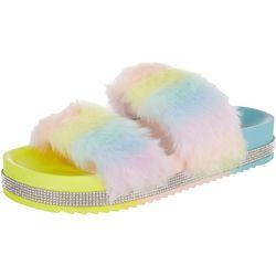Mudd Womens Lauren Rainbow Sandals