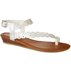 Daisy Fuentes Womens Giselle Wedge Sandals