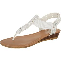 Daisy Fuentes Womens Gem Embellished Sandals