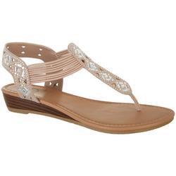 Womens Gem Embellished Sandals