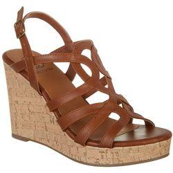 Daisy Fuentes Womens Sussie Wedge Sandals