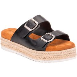 Olivia Miller Womens 2 Buckle Flat