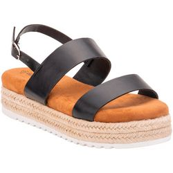 Olivia Miller Womens Ankle Strap Flats