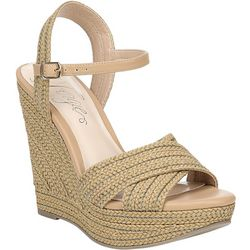 Fergalicious Womens Belize Wedge Sandals