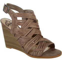 Fergalicious Womens Howdy Wedge Sandals