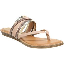 Womens Silvia Snake Thong Sandals