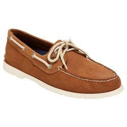 Sperry Mens Leeward 2 Eye Perforated Boat Shoes