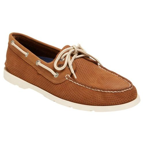 8f996e56e9f Sperry Mens Leeward 2 Eye Perforated Boat Shoes