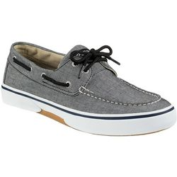 Sperry Mens Halyard 2 Eye Chambray Boat Shoes