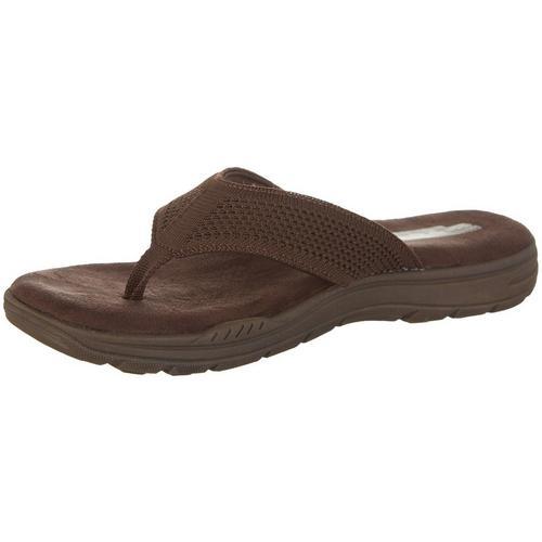 b2b7a950c778 Skechers Mens Evented Borte Thong Sandals