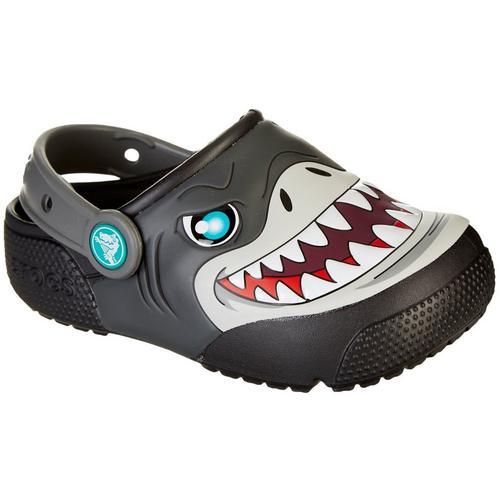 6c3ac74d4318 Crocs Toddler Boys Fun Lab Light Shark Clogs