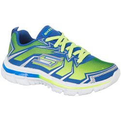 Skechers Boys Nitrate Lime Green Athletic Shoes
