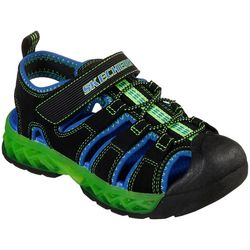 Skechers Boys S Lights Flex Flow Sandals