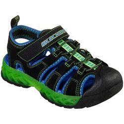 Skechers Boys S Lights Flex Flow Sandals
