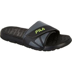 Fila Boys Crosshatched Slide