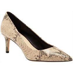 Enzo Womens Ranci Snakeskin Print Heels