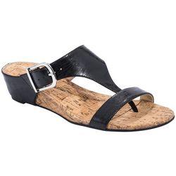 Andrew Geller Womens Iwin Wedge Sandals