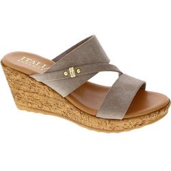 Italian Shoemakers Womens Adriane Wedge Sandals