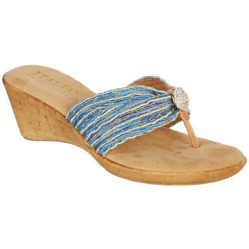 acabc7886891 Italian Shoemakers Womens Cayman Wedge Sandals