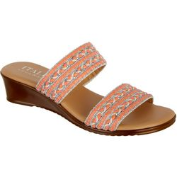 Italian Shoemakers Womens Cuddle Wedge Sandals