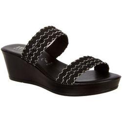 Italian Shoemakers Womens Carlie Wedge Sandals
