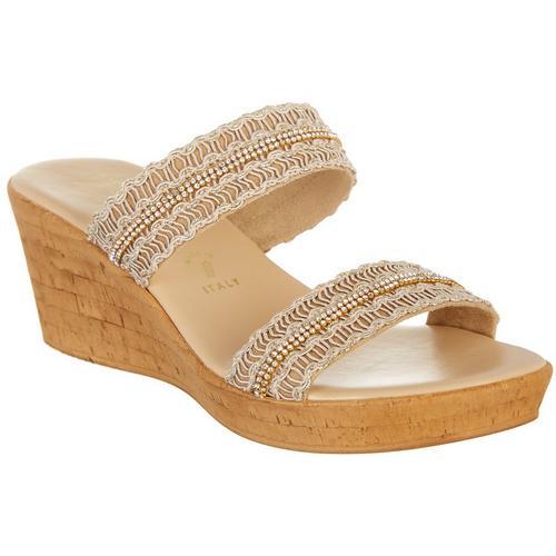 f6c999d087d7 Italian Shoemakers Womens Carlie Wedge Sandals