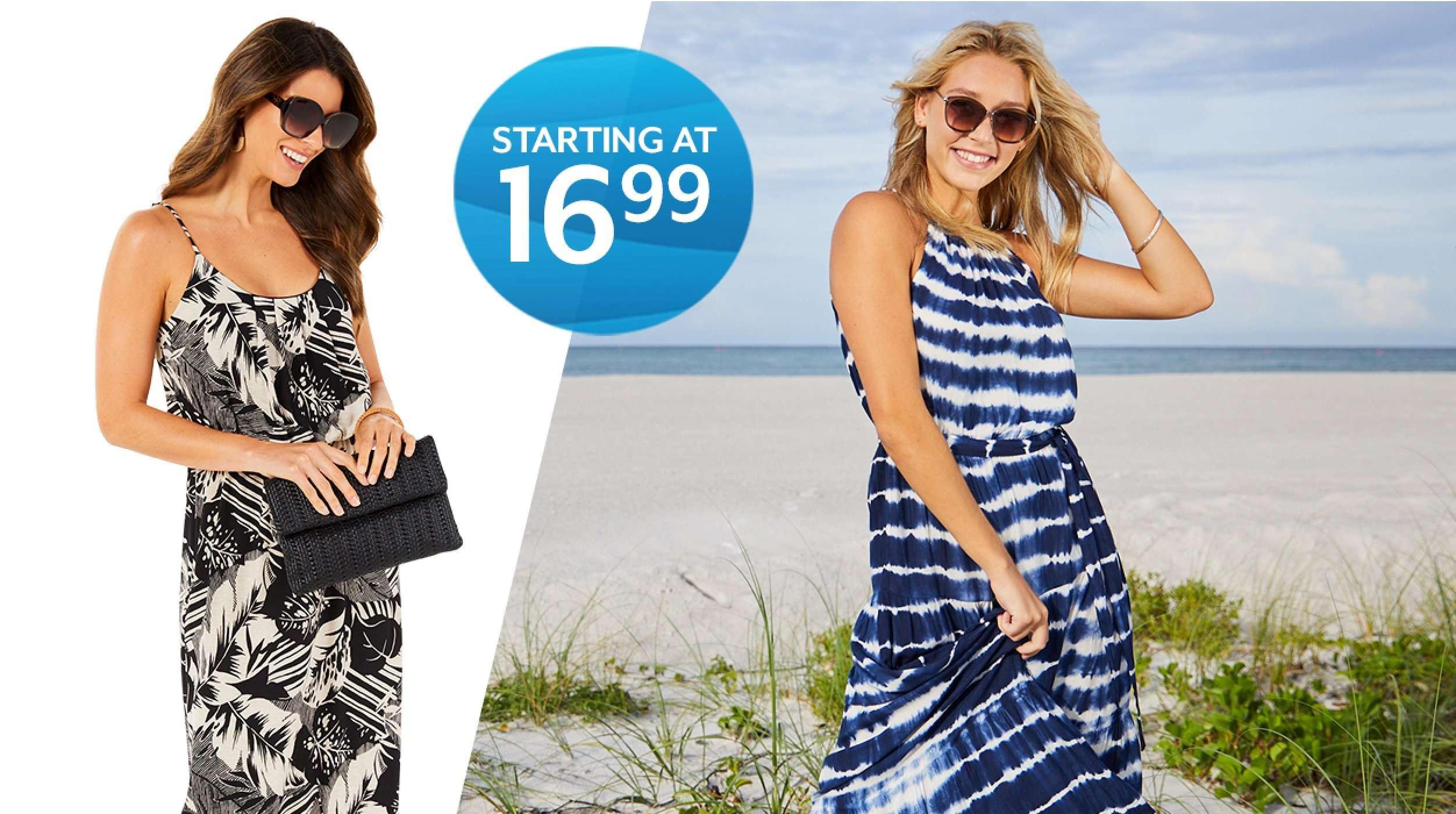 Starting at 16.99 Dresses for women
