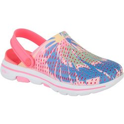 Skechers Womens Go Walk Psychadelic Clogs