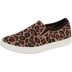 Skechers Womens Poppy Low Spot On Leopard Print Shoe