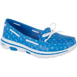 Skechers Womens Go Walk Nautical Boat Shoes