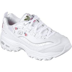 Skechers Womens D'Lites Bright Blossoms Athletic Shoes