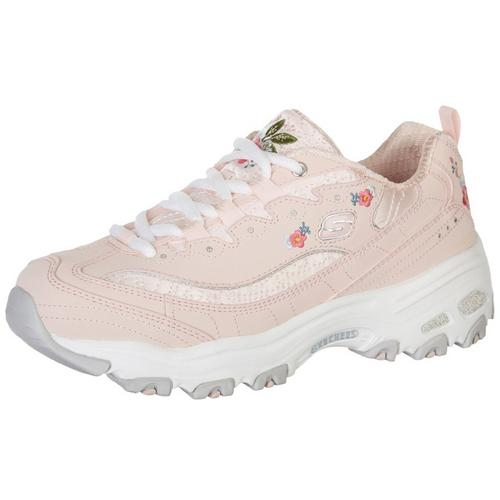 bdcc374fce06 Skechers Womens D Lite Floral Athletic Shoes